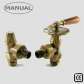 Abbey Throttle Manual Old English Brass Radiator Valve